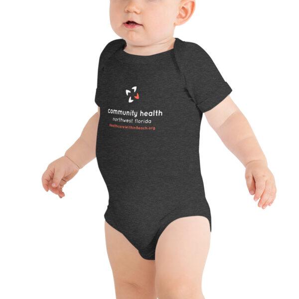 baby short sleeve one piece dark grey heather 5fce5dacc5038 600x600 - Baby Onesie