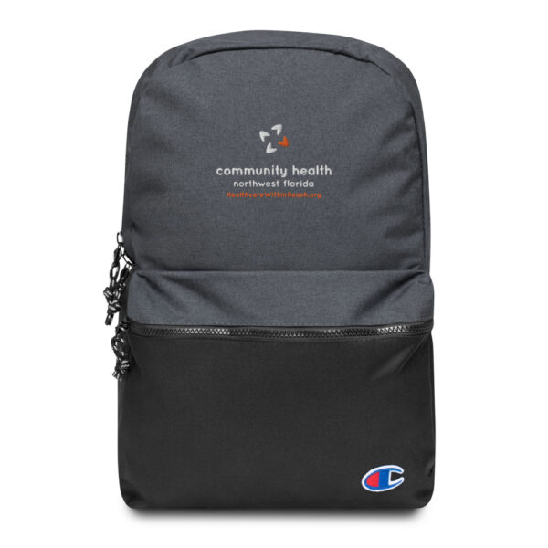 champion backpack heather black black 5fca6a8a54c5b 600x600 - Embroidered Champion Backpack