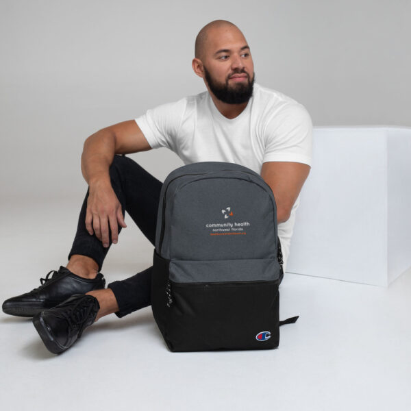 champion backpack heather black black 5fca6a8a54ccc 600x600 - Embroidered Champion Backpack