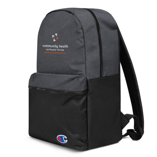 champion backpack heather black black 5fca6a8a54d9d 600x600 - Embroidered Champion Backpack
