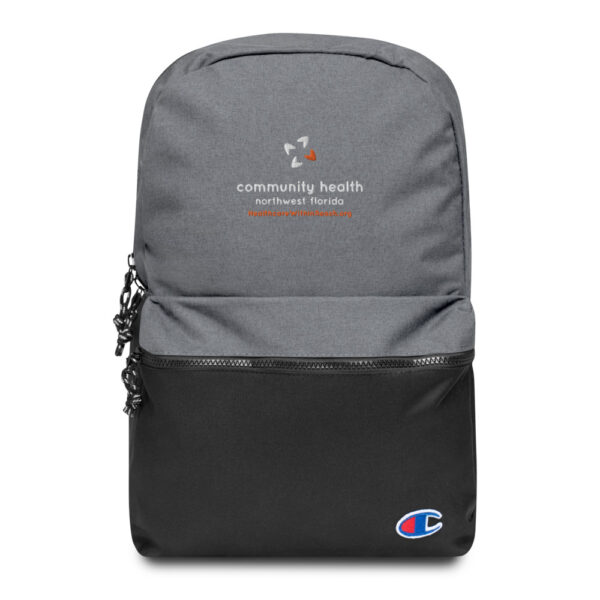 champion backpack heather grey black 5fca6a8a54e13 600x600 - Embroidered Champion Backpack
