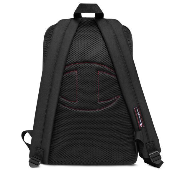 champion backpack heather grey black 5fca6a8a54e40 600x600 - Embroidered Champion Backpack
