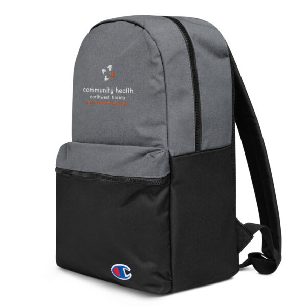 champion backpack heather grey black 5fca6a8a54e70 600x600 - Embroidered Champion Backpack