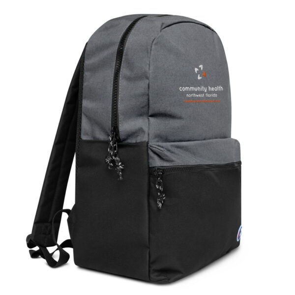 champion backpack heather grey black 5fca6a8a54ea9 600x600 - Embroidered Champion Backpack