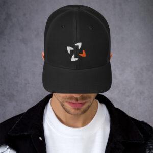retro trucker hat black 5fca8a4a27b74 300x300 - Logomark Trucker Cap